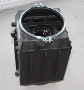 26.01.2011 Einbau Kamin - Die Wassertasche