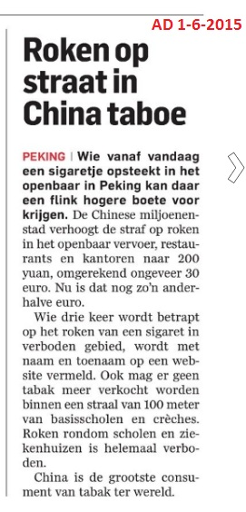 AD 1-6-2015 Roken op straat in China